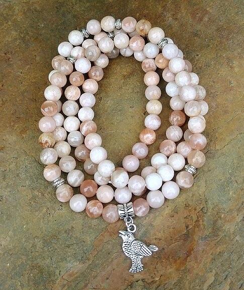 Raven and Sunstone 108 Prayer Beads