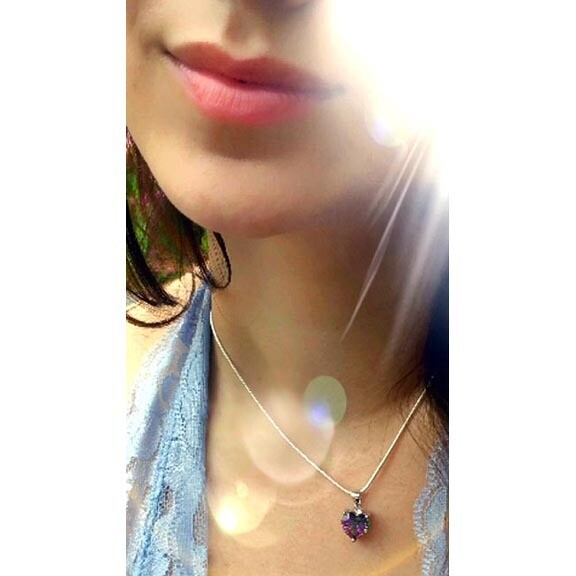 Mystic Topaz Heart Pendant