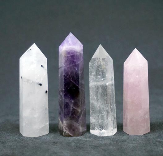 Natural Crystal Points Set