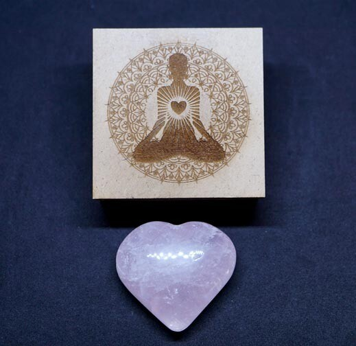Rose Quartz Heart in Gift Box
