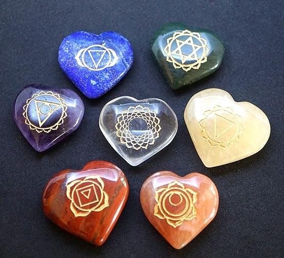 Chakra Heart Stone Set