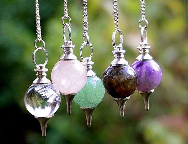 Tree of Life Gemstone Ball Pendulums