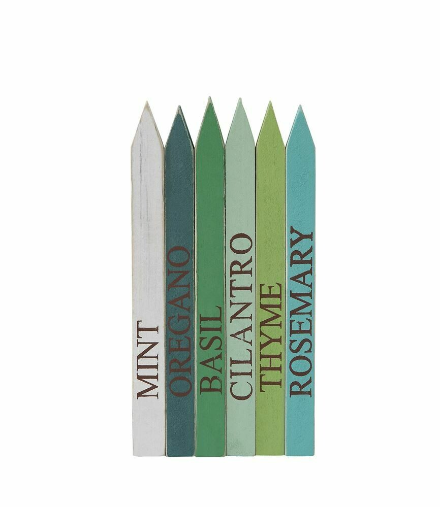 Colorful Wooden Herb Markers- Creative Co-op