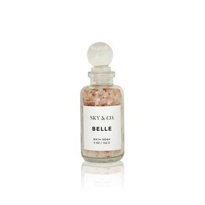 Belle Bath Salt Soak- 5oz- Sky And Company