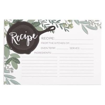 Herb Skillet Recipe Cards