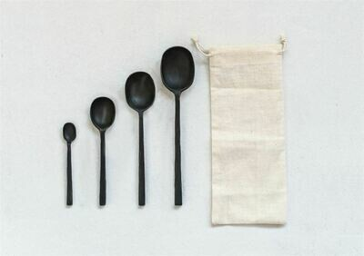 Black Cast Spoons- Set Of 4