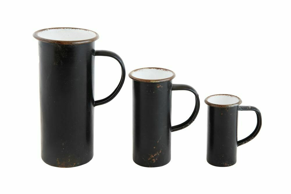 Black Decorative Pitcher Set