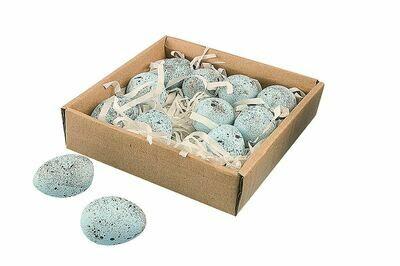 Ceramic Robins Eggs Set of 12