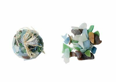 Decorative Sea Glass In Mesh Bag