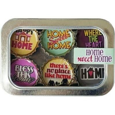 Designer Bottle Cap Magnets- Home Sweet Home