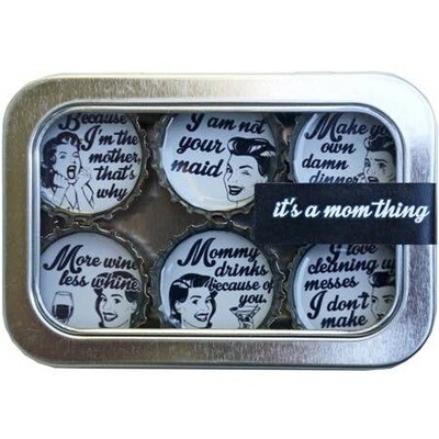 Designer Bottle Cap Magnets-It's A Mom Thing