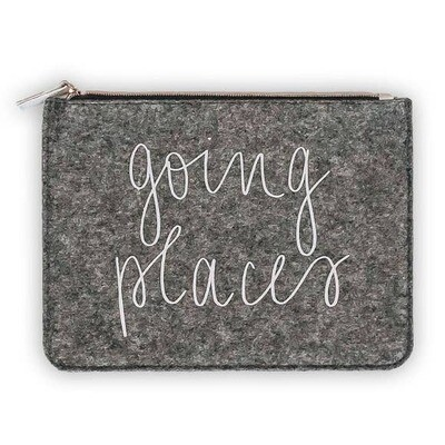 Going Places Felt Pouch