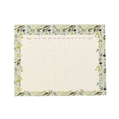 Monthly To Do Calendar- Garden Herb- June & December