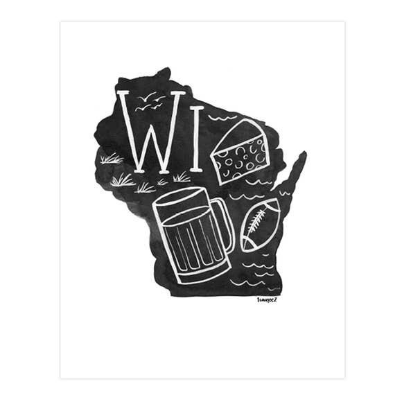 Wisconsin Black & White 8x10