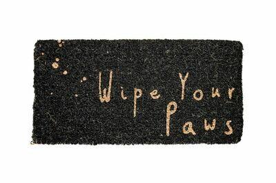 Wipe Your Paws Natural Coir Doormat- Creative Co-op