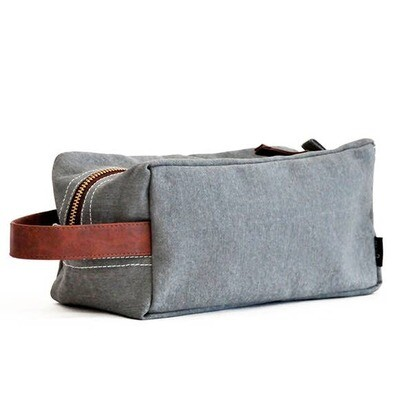 Waxed Ash Canvas Travel Case - Maika