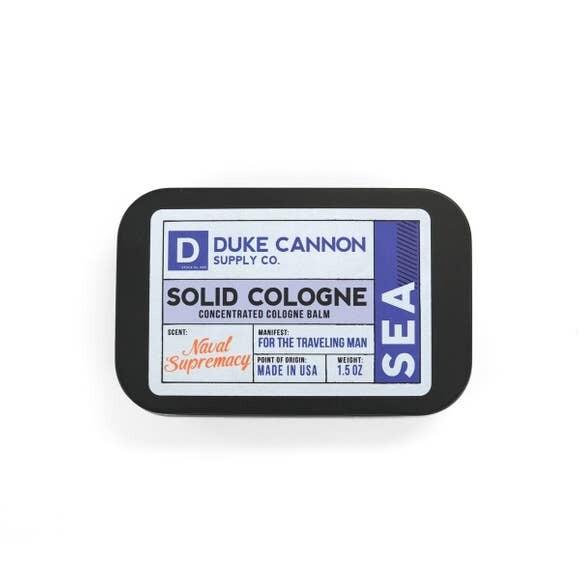 Traveling Man Solid Cologne- Duke Cannon Sea
