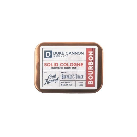 Traveling Man Solid Cologne- Duke Cannon Bourbon