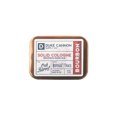 Traveling Man Solid Cologne- Duke Cannon Bourbon