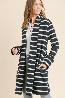 Striped Cozy Boxy Jacket