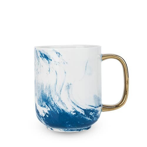 Seaside Marbled Ceramic Mug- Twine