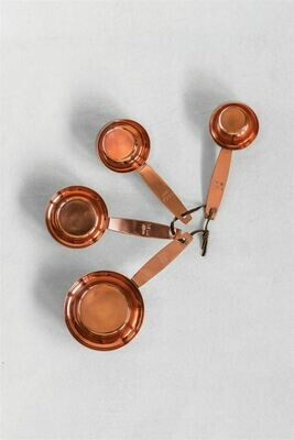 Copper Finish Metal Measuring Cups- Creative Co-op