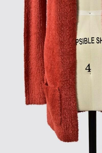 Warm & Cozy Cardigan w/ Pockets- Rust