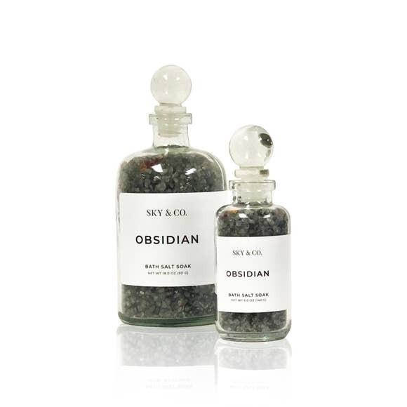 Obsidian Bath Salt Soak- 5oz- Sky And Company