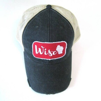 Wisc State Patch Ball Hat- Gracie Design