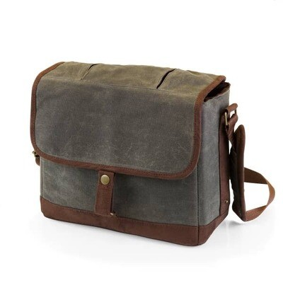 Double-Growler Tote- Khaki Green & Brown