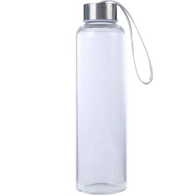 Plain Glass Water Bottle- Mad Man