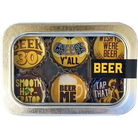 Wisconsin Proud Designer Bottle Cap Magnets- Beer