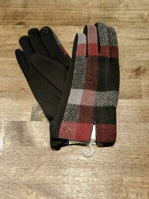 Gloves- Charcoal Plaid