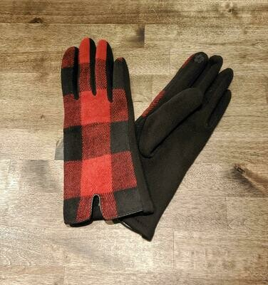 Gloves- Red Buffalo Check