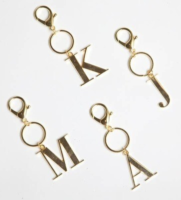 Gold Initial Key Chains