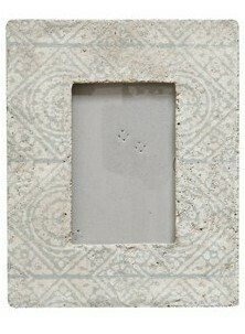 Cement Frame Holds 4x6 Photo Diamond Inspired