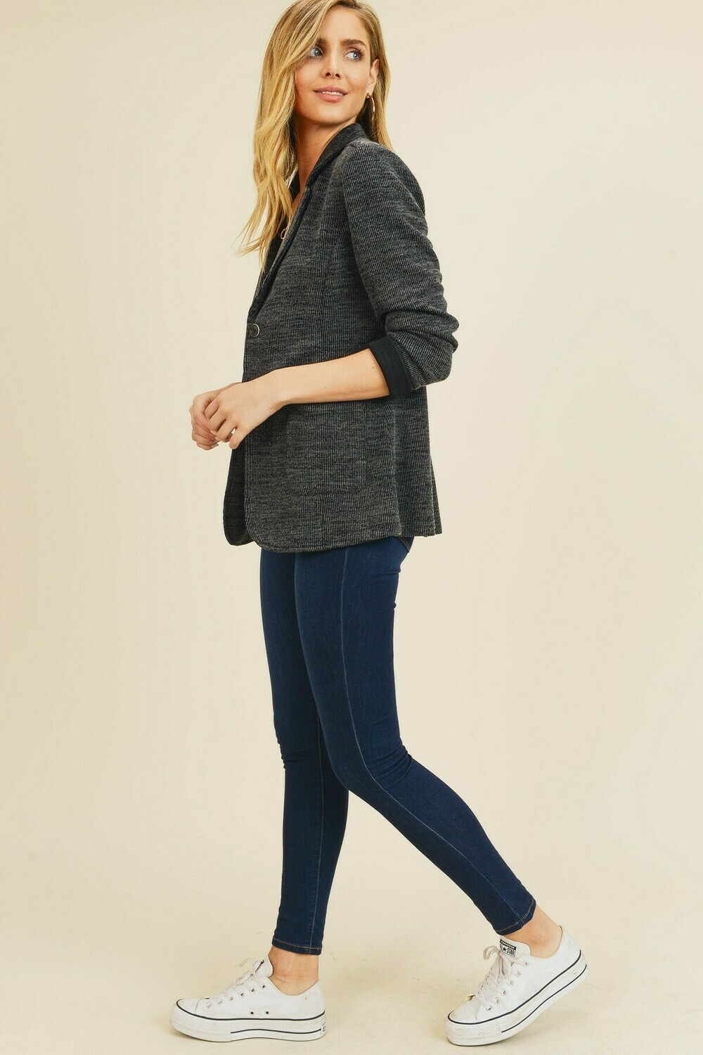 Double Pocket Sweater Jacket- Doe & Rae