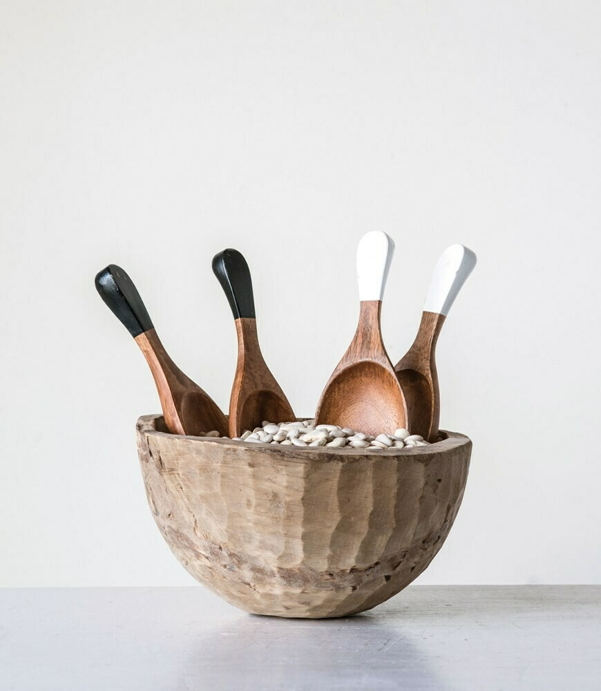 Hand Carved Wooden Salad Servers- Creative Co-op