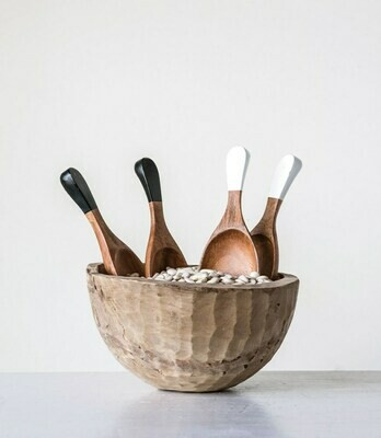 Hand Carved Wooden Salad Servers