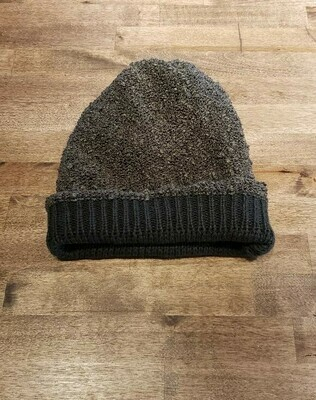 Reversible Popcorn Beanie- Olive & Pique Olive