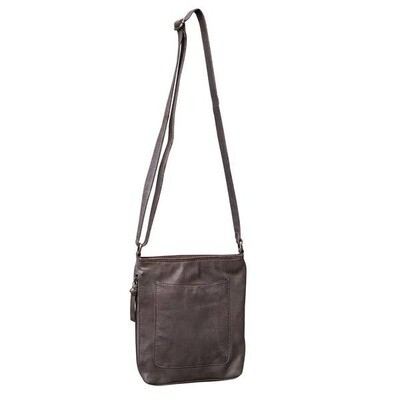 Leather Crossbody- Chocolate
