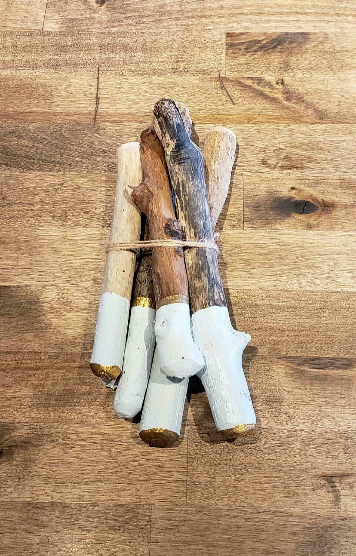 Dipped Driftwood Bundles- Seafoam Blue