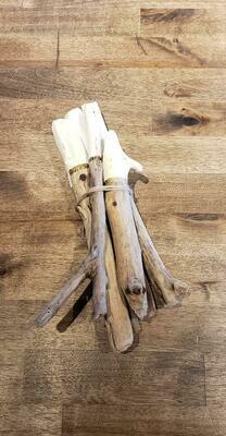 Dipped Driftwood Bundles White