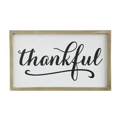 Thankful Wood Framed Sign