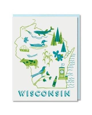 Wisconsin State Love Box Card Set