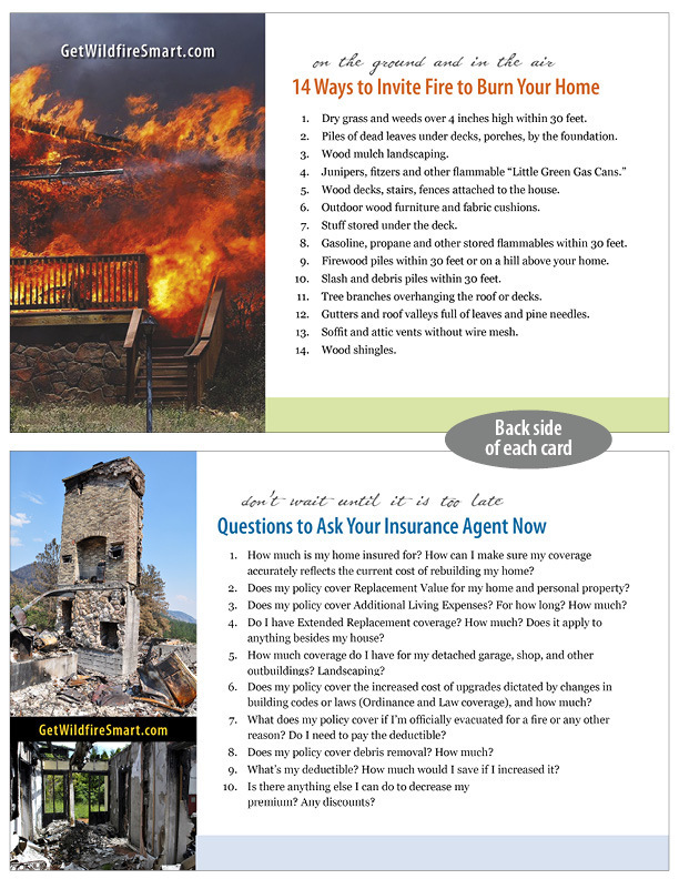 "Set of 2 ""Get Wildfire Smart"" Reference Cards"