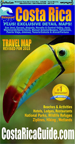 Costa Rica Travel Map