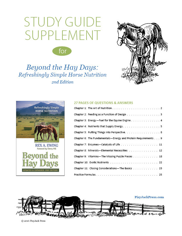 Study Guide Supplement for Beyond the Hay Days book BHD2-SG