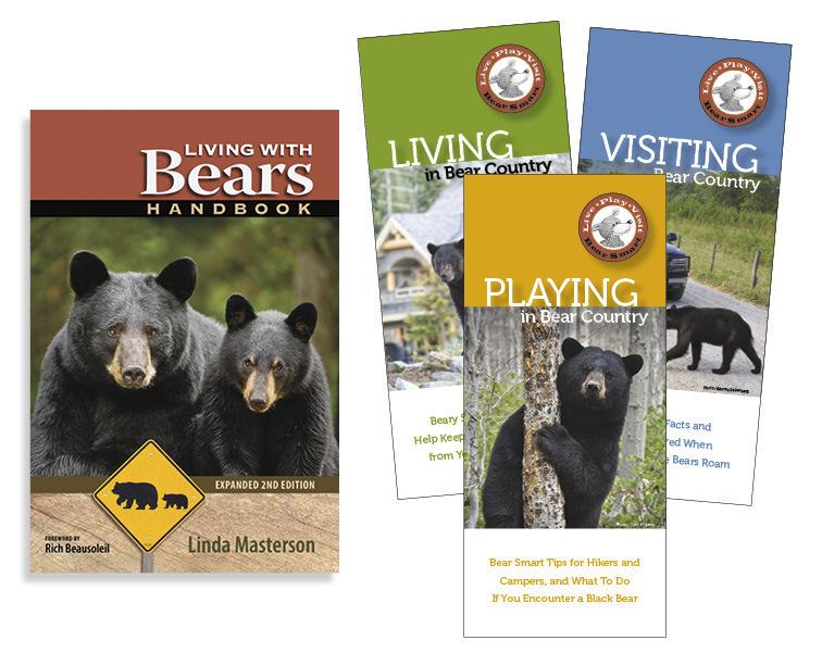 Combo: Living With Bears Handbook & 3 Pocket Guides LWB2-bk-3G