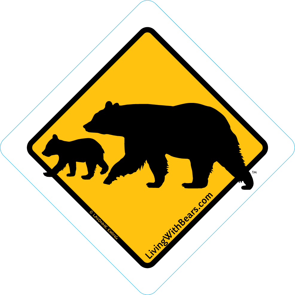 Black Bear Sign Artwork - Mama Bear & Cub (GOLD) SGN-GD2